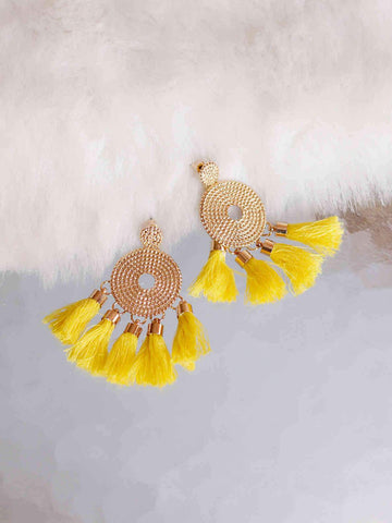 Bellofox Disc Tassels Earrings BE3054