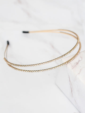 Bellofox Double Embellished Headband Hair Accessories