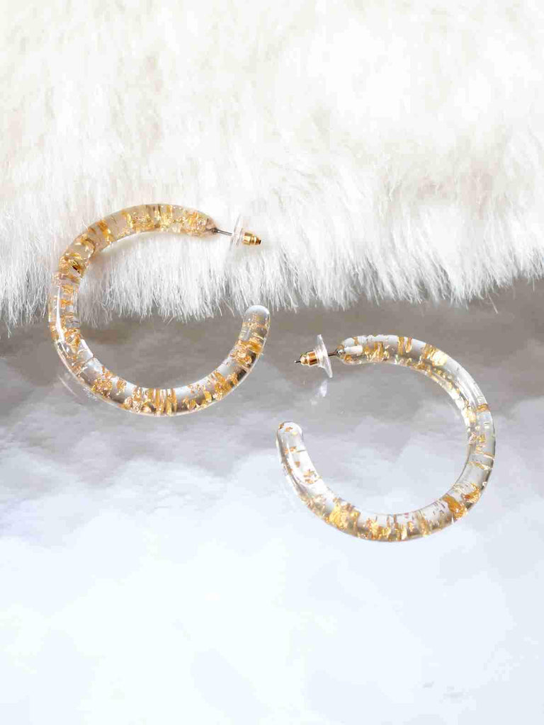 Bellofox Exilir Acrylic Hoops Earrings BE3177