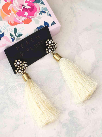 Bellofox Flower Tassel Earrings