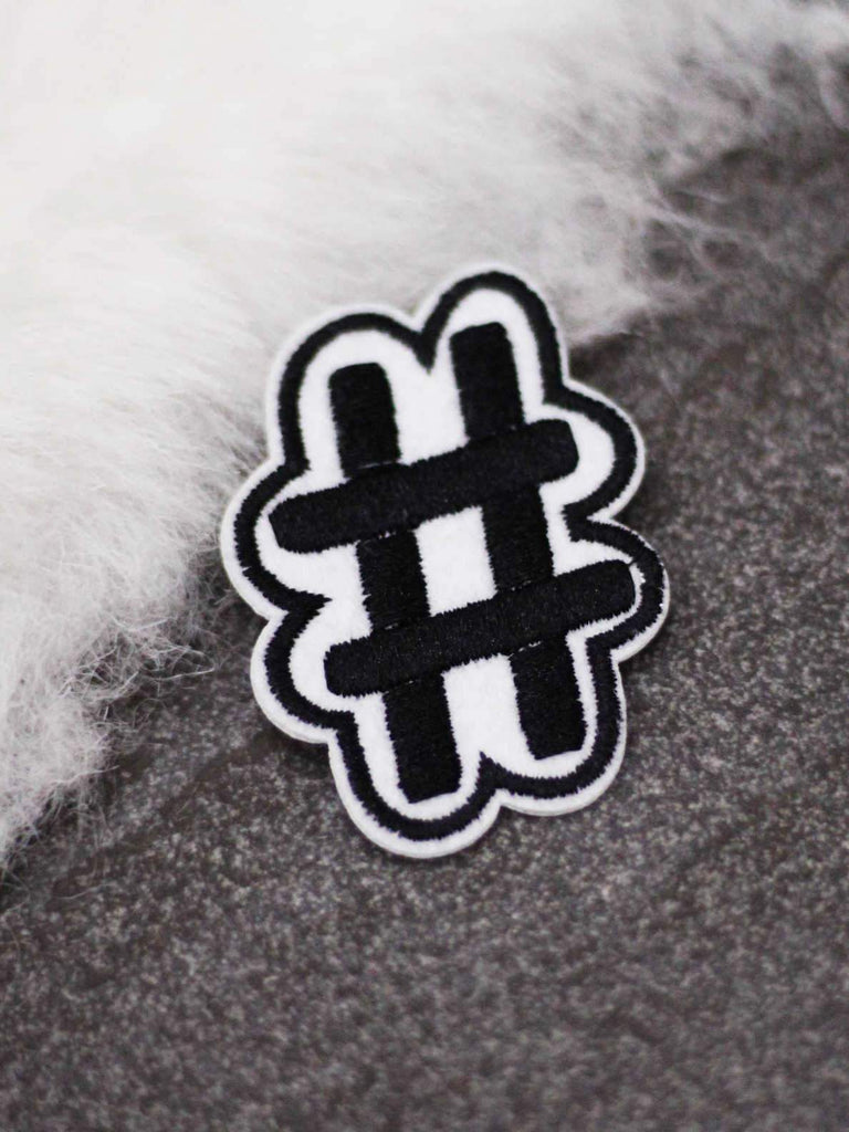 Bellofox Hashtag # Iron On Patch Accessories