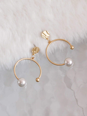 Bellofox Lisa Pearl Hoops Earrings BE3057