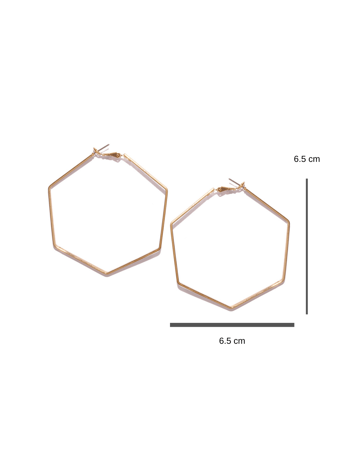 Bellofox Medium  Hexa Hoops Earrings BE2789