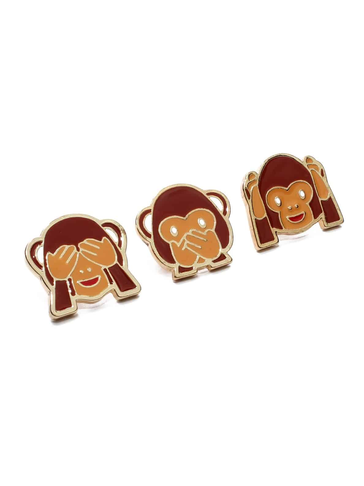 Bellofox Monkey Brooch (Set of 3) Accessories