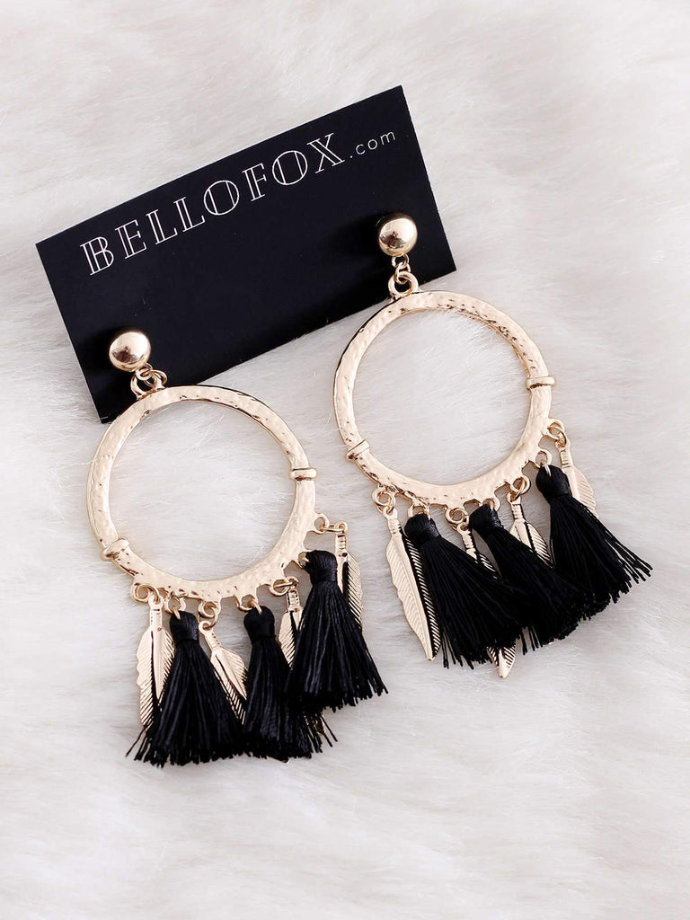 Bellofox Tassel Feathers Earrings