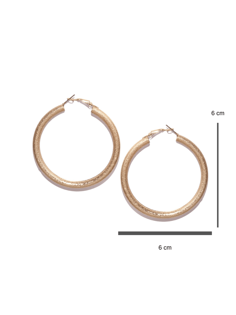 Bellofox Textured Medium Hoops Earrings BE2772