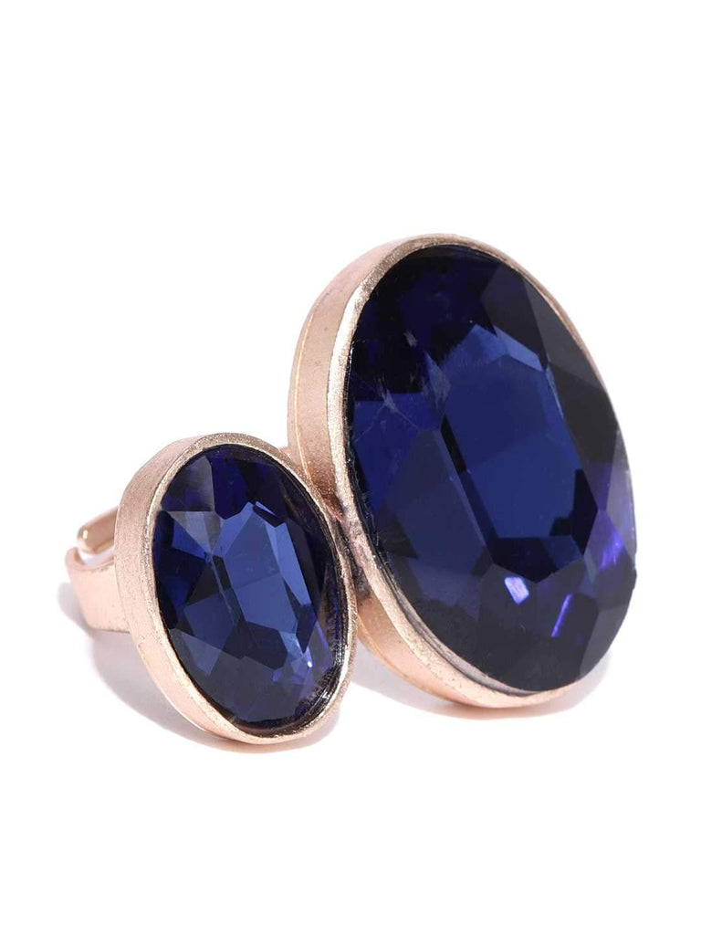 Bellofox Twin Gem Statement Ring Rings