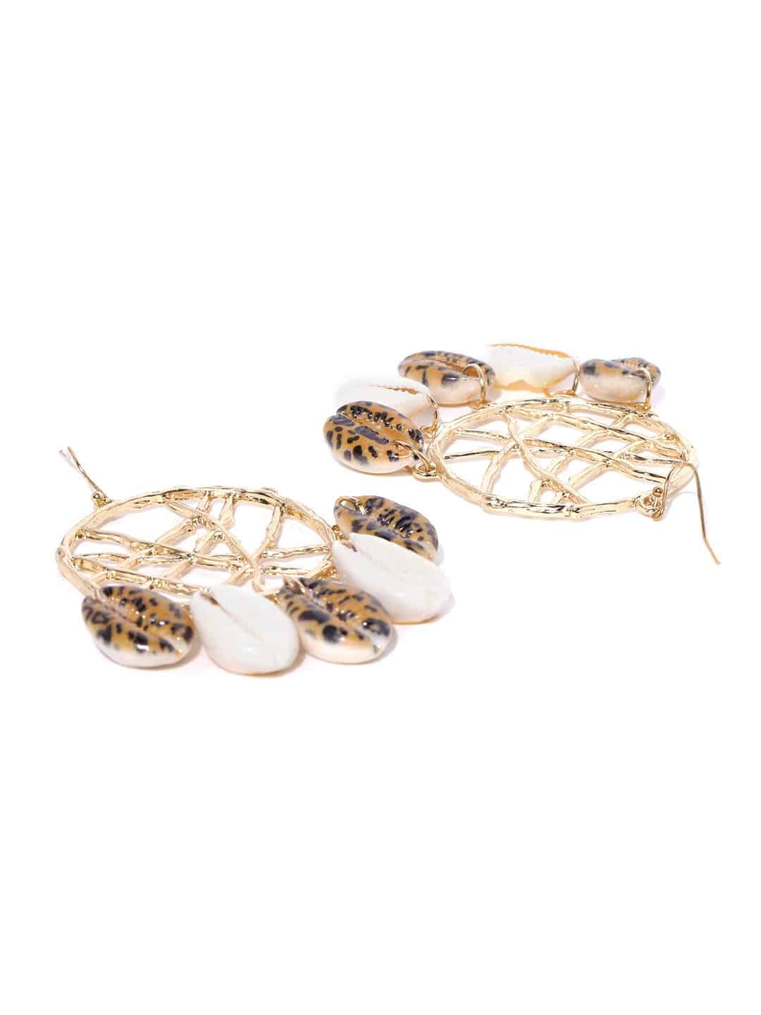 Bellofox Web Shell Danglers Earrings BE3243