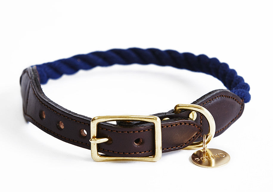 Navy blue rope collar