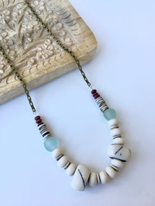 Lines bone necklace