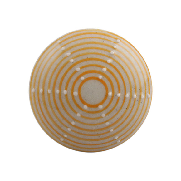 Yellow/cream knob