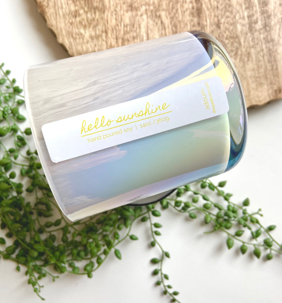 'hello sunshine' 14oz soy candle
