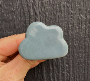 Blue/grey ceramic cloud knob