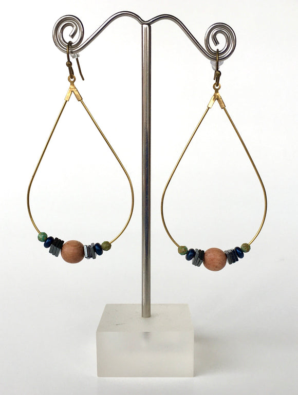 Rosewood Tear Drop Earrings