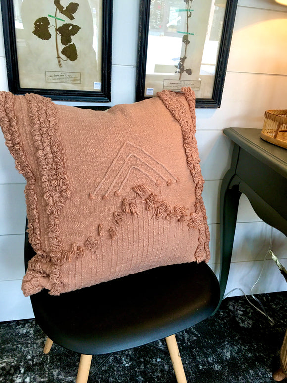Dusty mauve textured pillow