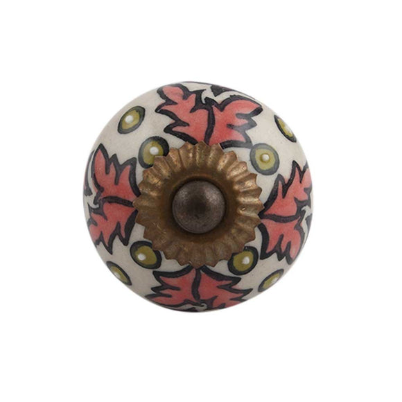 Persimmon floral knob