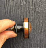 Copper + black knob