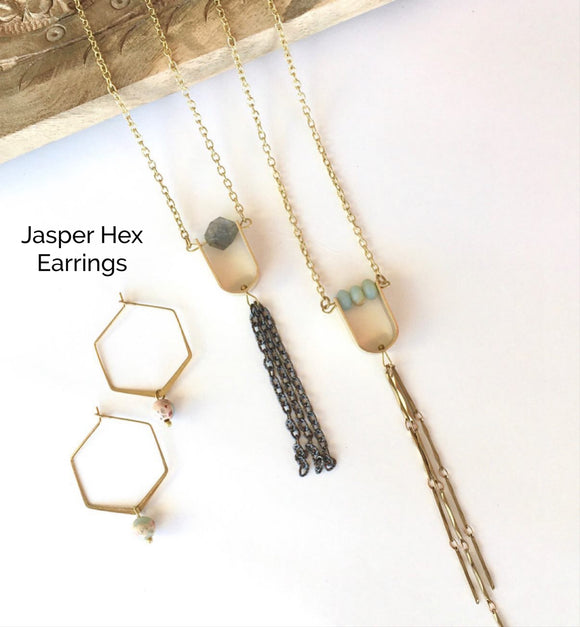 Jasper Hex Earrings