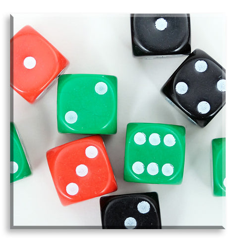 1-6 Dice - coloured