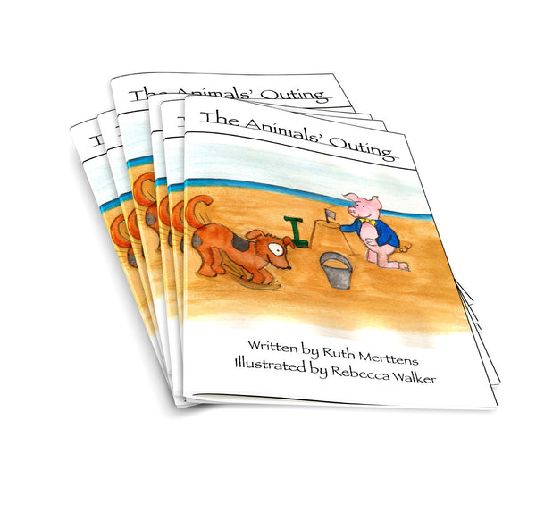 Animals' outing - pack of 6