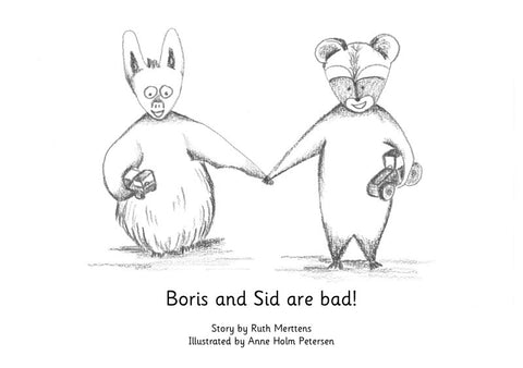 Boris and Sid are bad - pack of 6