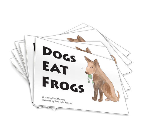 Dogs eat frogs - pack of 6