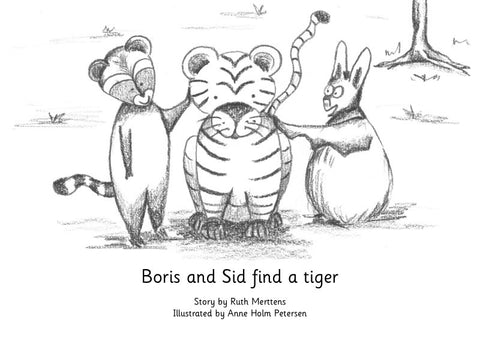 Boris and Sid find a tiger - pack of 6
