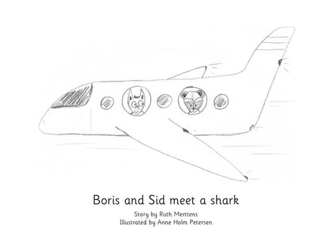 Boris and Sid meet a shark - pack of 6