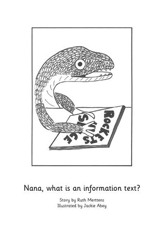 Nana, what is an information text? - pack of 6