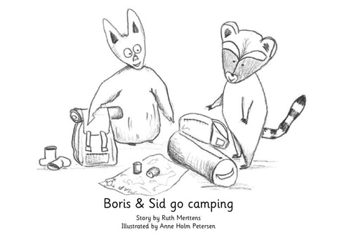 Boris and Sid go camping - pack of 6