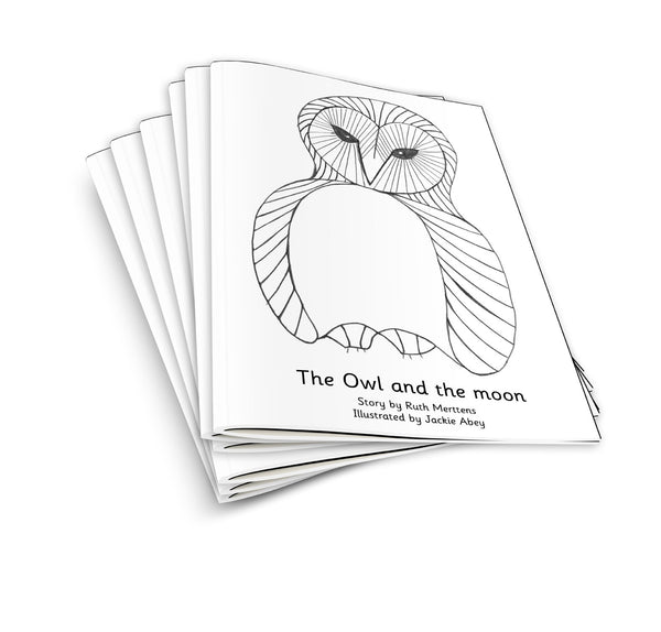 Owl and the moon - pack of 6