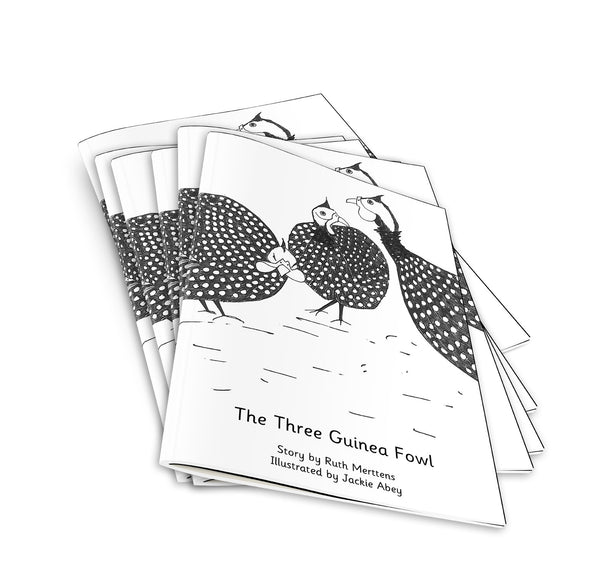 The Three Guinea Fowl - pack of 6