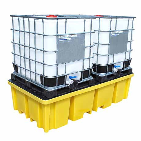 IBC Spill Pallet with 4 way FLT Access for 2 x 1000ltr IBC BB2FW