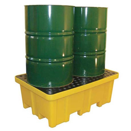 Spill Pallet with 4 way FLT Access for 2 x 205 L Drums