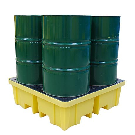 Spill Pallet with 4 way FLT access for 4 x 205ltr Drums BP4FW
