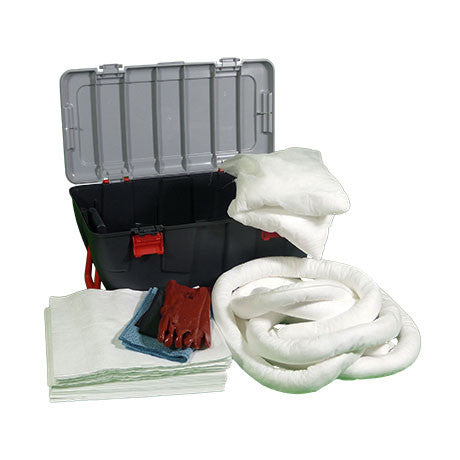 White Oil Selective Spill Kit in a Plastic Box on Wheels KWE2