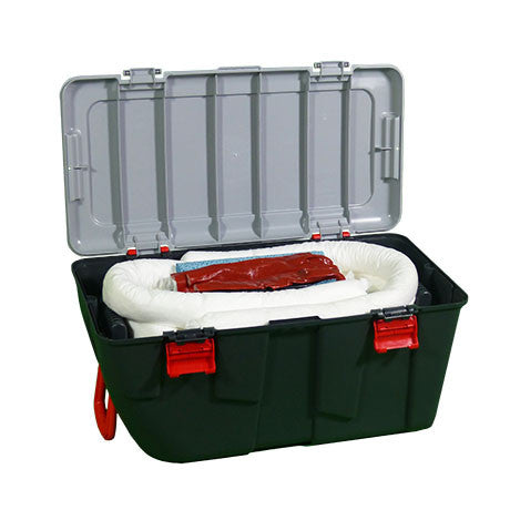 White Oil Selective Spill Kit in a Plastic Box on Wheels KWE1