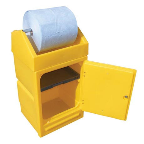 Lockable Dispensing Stand with Roll Holder
