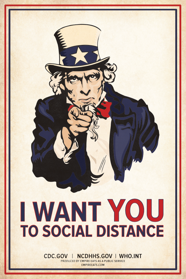 Uncle Sam Social Distance Poster