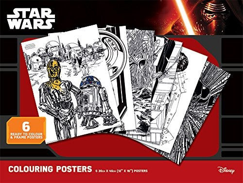 Star Wars Art Therapy Colouring Posters