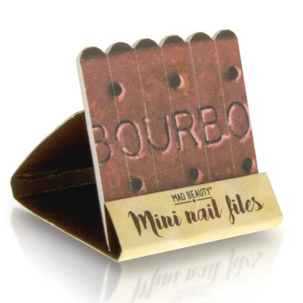Bourbon Biscuit Emery Board Mini Nail Files Set