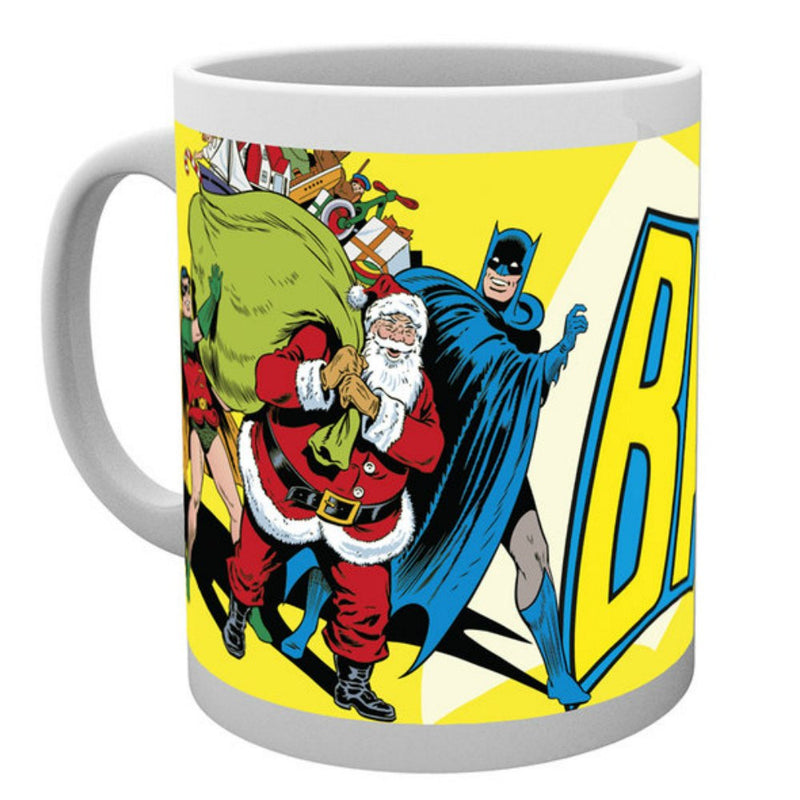 DC Comics Orginals Batman Robin Santa Retro Christmas Boxed Mug