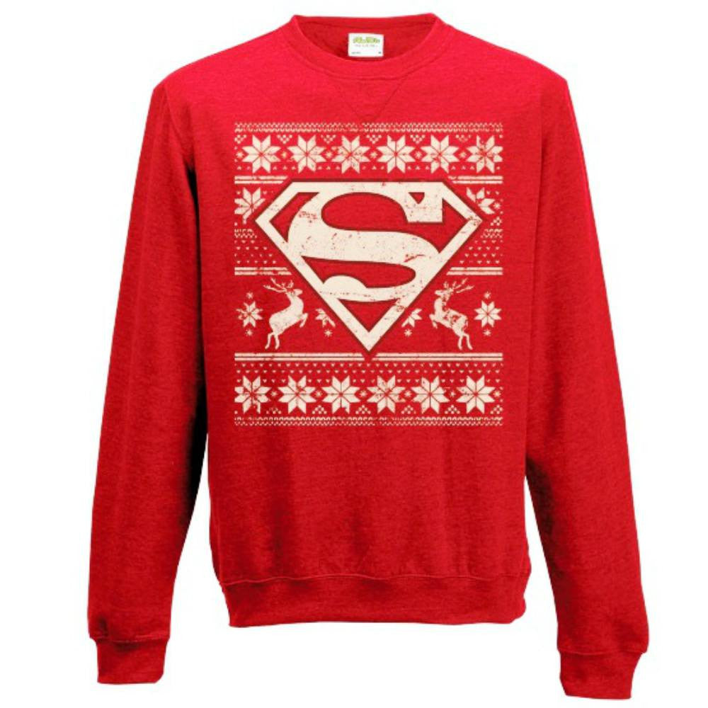 DC Comics Superman Logo Red Unisex Christmas Sweater