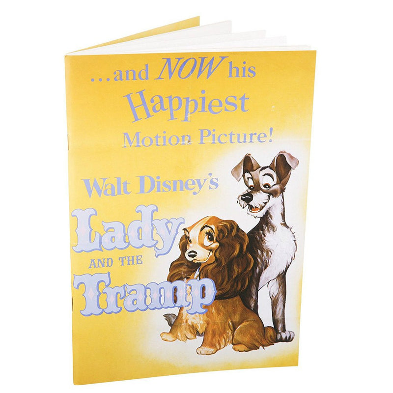 Disney Lady and the Tramp Movie Poster Paperback Notebook