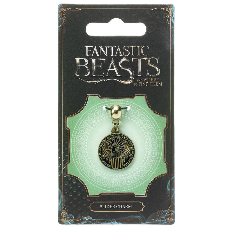 Fantastic Beasts and Where to Find Them Magical Congress Brass Plated Slider Charm