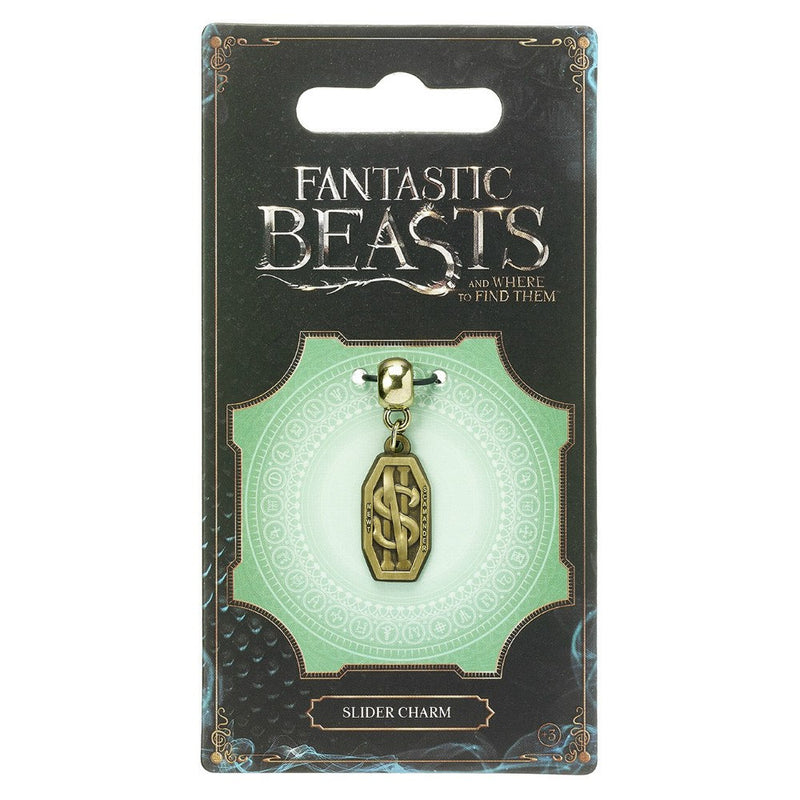 Fantastic Beasts and Where to Find Them Newt Scamander Logo Brass Plated Slider Charm