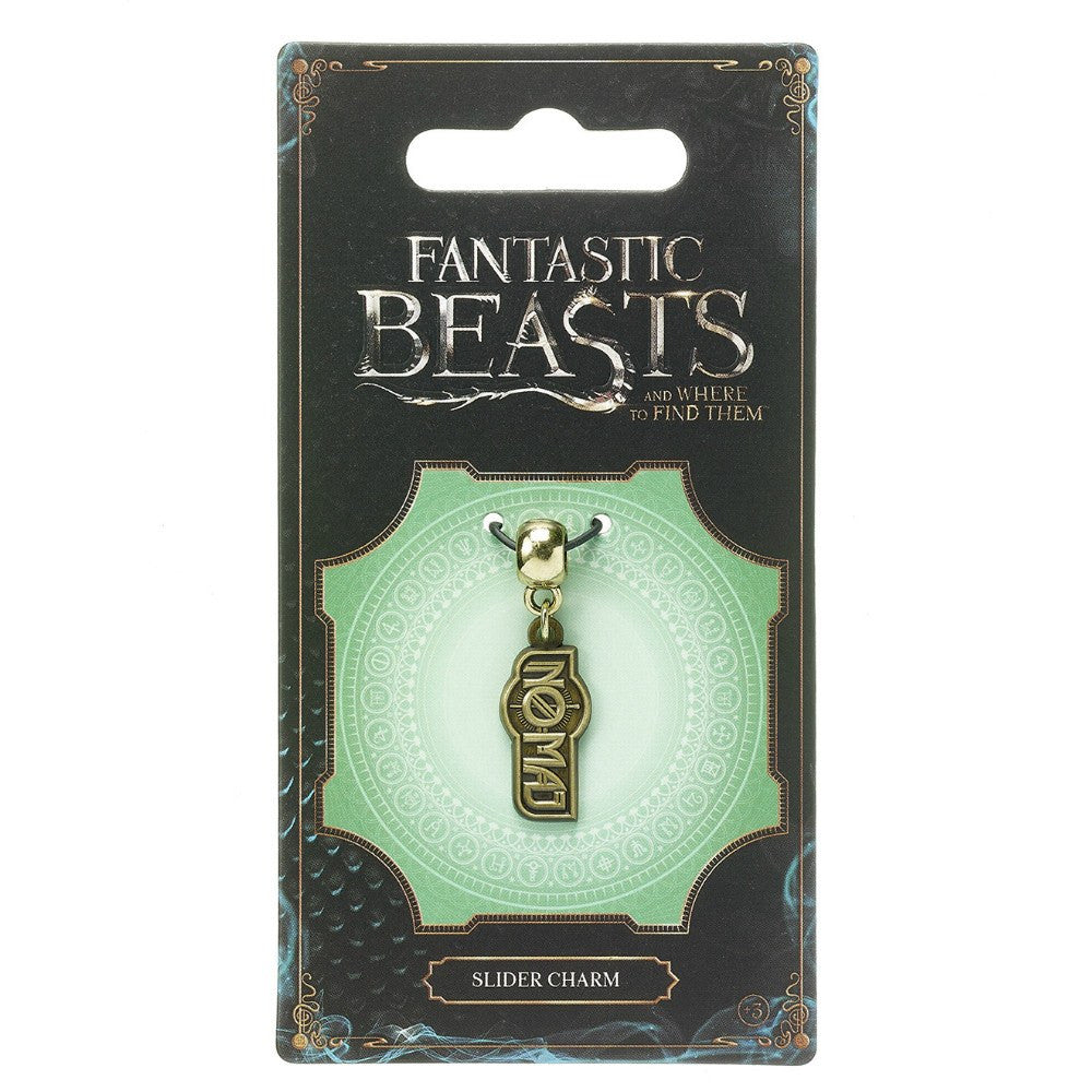 Fantastic Beasts and Where to Find Them No Maj Brass Plated Slider Charm