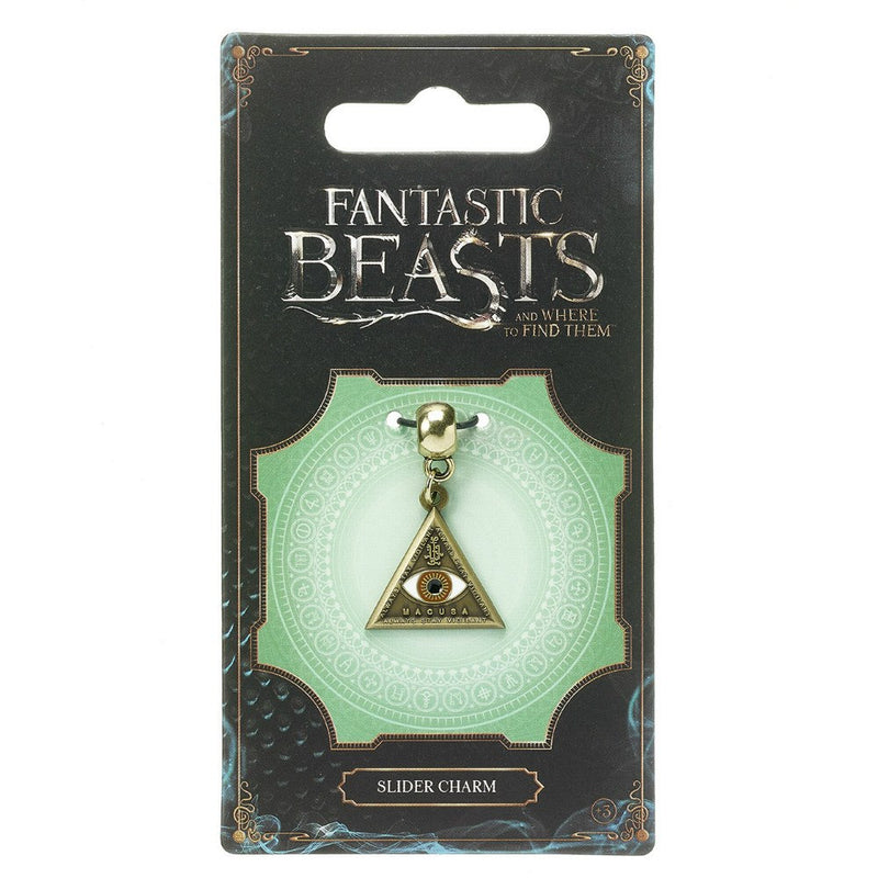 Fantastic Beasts and Where to Find Them Triangle Eye Brass Plated Slider Charm