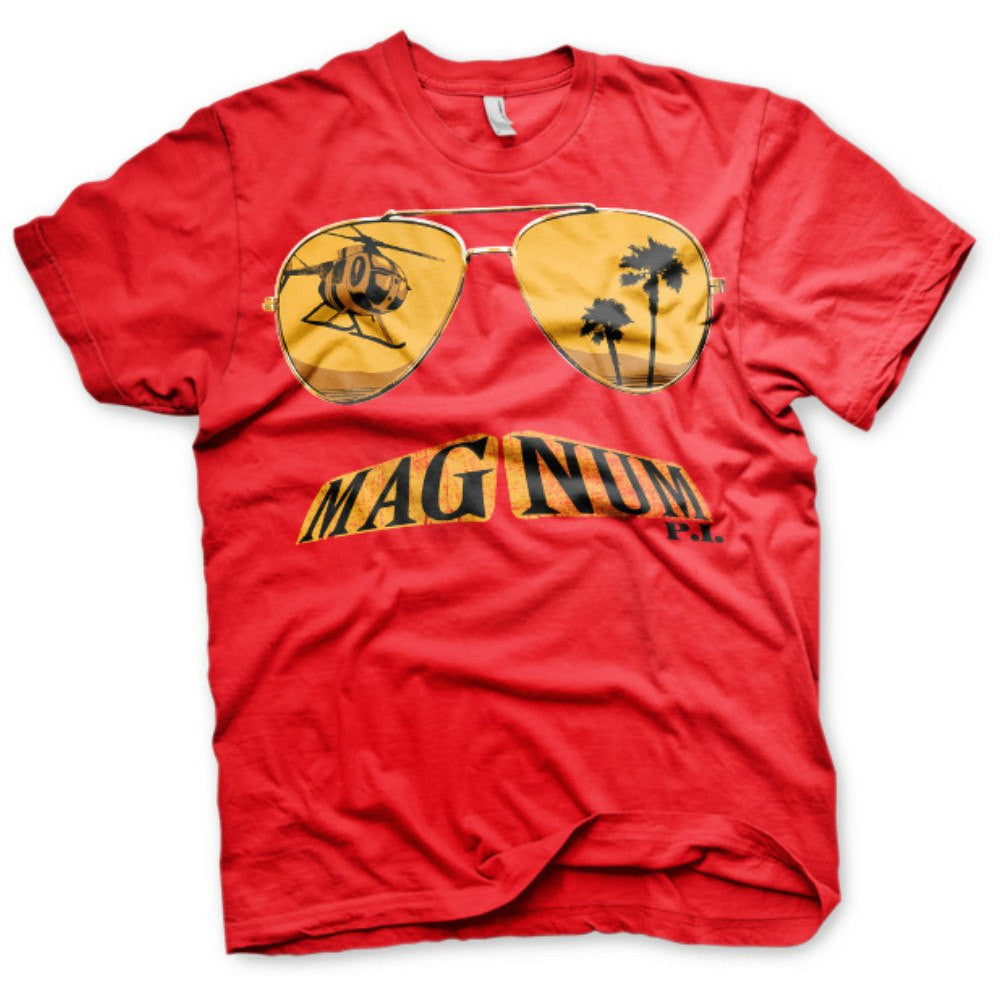 Magnum P.I. 80s TV Series Moustache and Shade Mens T-Shirt