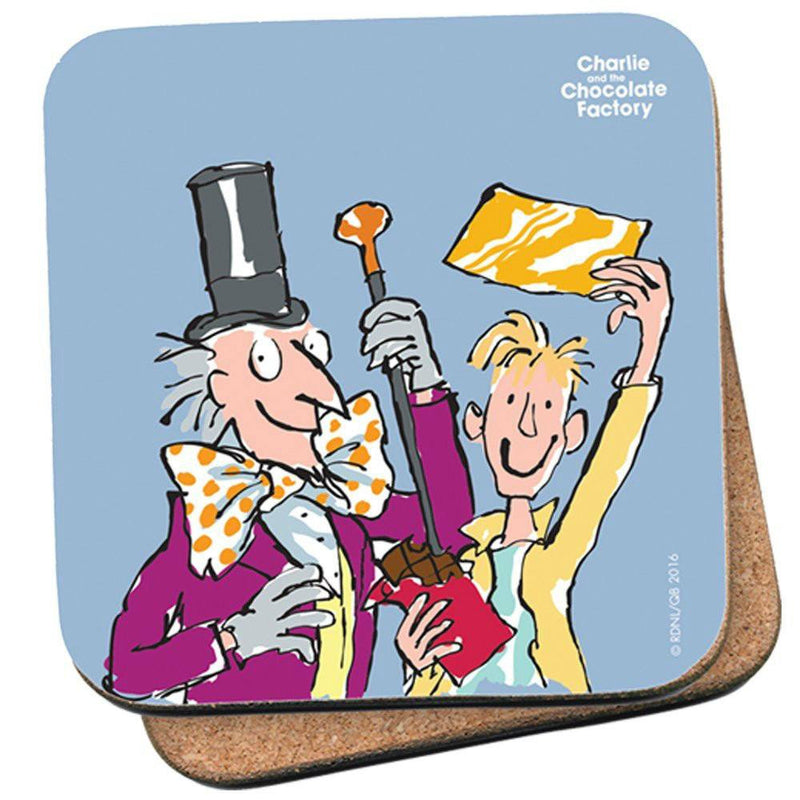 Roald Dahl Charlie and the Chocolate Factory Golden Ticket Single Coaster